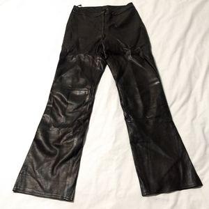 Cache Black Leather Pants